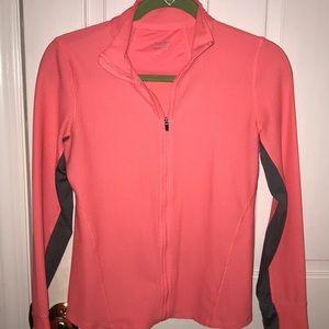 Coral Calvin Klein Performance zip up jacket